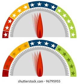 An image of a star rating gauge set.
