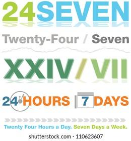 An image of a twenty four seven design set.