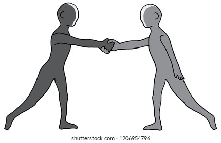 An image of a Two People Shaking Hands.