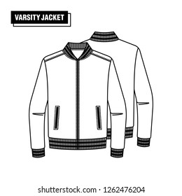 Image of a Varsity Jacket schematic.