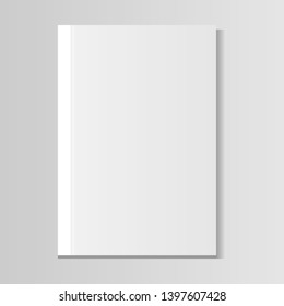 image of a white book on a gradient background