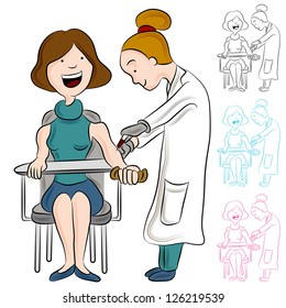 Blood Draw With Needle From Arm Stock Vectors Images Vector Art