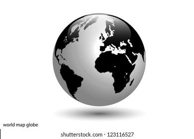Image of the world globe isolated on a white background.