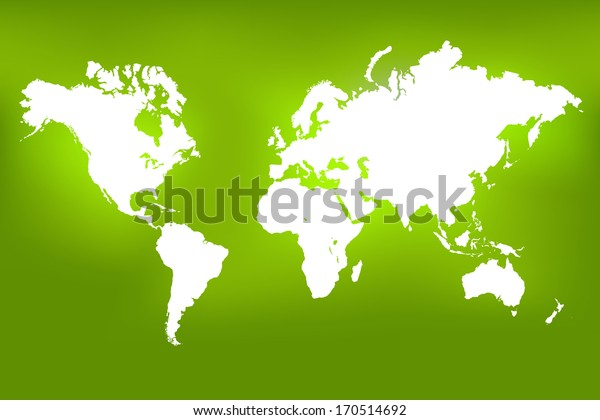 Image of a world map on a colorful green background.