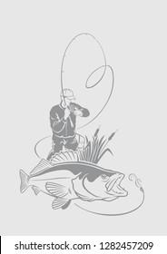 image zander fishing