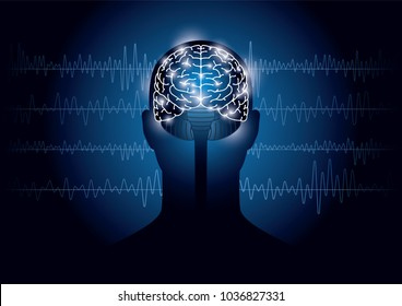 Images of humans and electroencephalograms