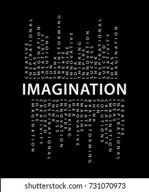 Imagination typography / Textile graphic, t shirt print, poster, vector design