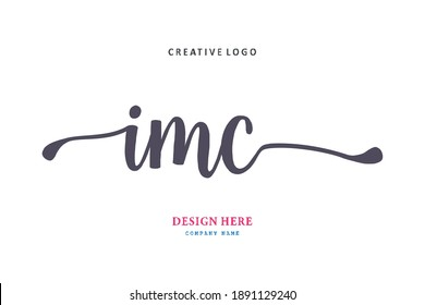 IMC lettering logo is simple, easy to understand and authoritative