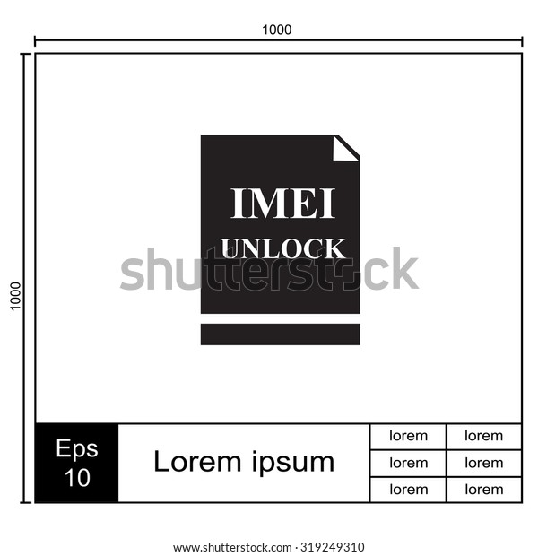 Imei Unlock Vector Icon Stock Vector (Royalty Free) 319249310