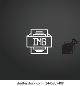Img vector icon. Img concept stroke symbol design. Thin graphic elements vector illustration, outline pattern for your web site design, logo, UI. EPS 10.