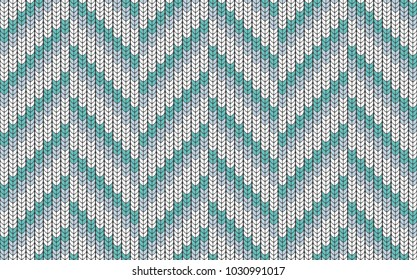 Imitation knitted sweater. Seamless pattern in the form of a zigzag. Background for decorative prints.