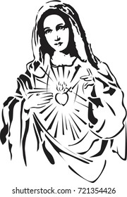 immaculate heart of Mary vector
