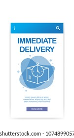 IMMEDIATE DELIVERY INFOGRAPHIC
