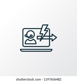 Immediate response icon line symbol. Premium quality isolated assistance element in trendy style.