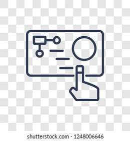 Immersive icon. Trendy linear Immersive logo concept on transparent background from Artificial Intellegence and Future Technology collection