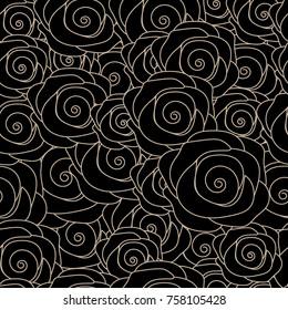 immortal black rose seamless pattern of the love naver dies