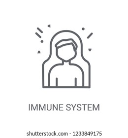Immune system icon. Trendy Immune system logo concept on white background from sauna collection. Suitable for use on web apps, mobile apps and print media.