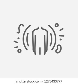 Immunology icon line symbol. Isolated vector illustration of  icon sign concept for your web site mobile app logo UI design.