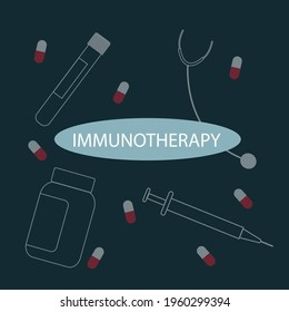 Immunotherapy medical concept- vector illustration