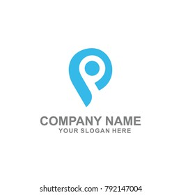 imnitial P logo vector