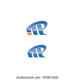 IMP, INP, IP letter logo