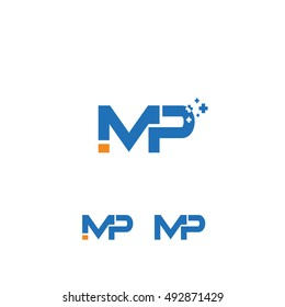 IMP letter vector, mp logo