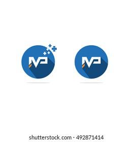 IMP letter vector, mp medical logo