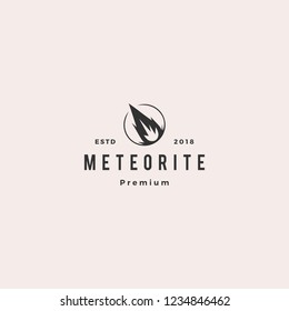 impact meteor logo hipster retro vintage label vector icon illustration