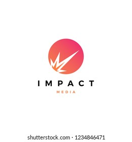impact meteor logo vector icon illustration