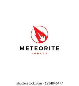 impact meteor logo vector icon illustration