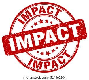 impact stamp.  red round impact grunge vintage stamp. impact