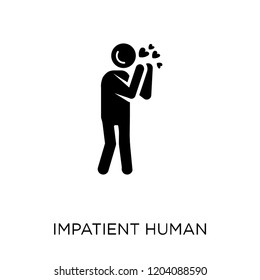 impatient human icon. impatient human symbol design from Feelings collection. Simple element vector illustration on white background.