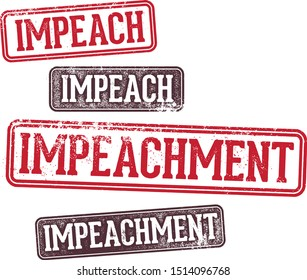 Impeach and Impeachment Rubber Stamps