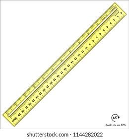 Imperial and decimal inch ruler (plastic)