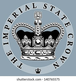 The imperial state crown. EPS 8, CMYK