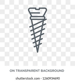 Implant Fixture icon. Trendy flat vector Implant Fixture icon on transparent background from Dentist collection. High quality filled Implant Fixture symbol use for web and mobile