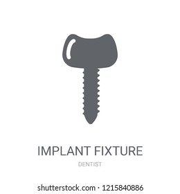 Implant Fixture icon. Trendy Implant Fixture logo concept on white background from Dentist collection. Suitable for use on web apps, mobile apps and print media.