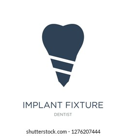 implant fixture icon vector on white background, implant fixture trendy filled icons from Dentist collection, implant fixture vector illustration