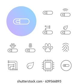 Implant Microchip Icons