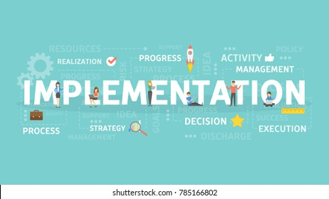 Implementation concept illustration. Idea of innovation and development.