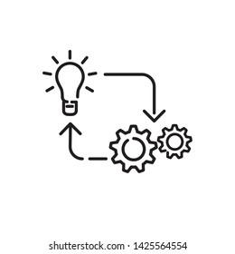 implementation icon, logo design template