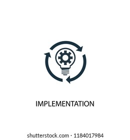 implementation icon. Simple element illustration. implementation concept symbol design. Can be used for web and mobile.