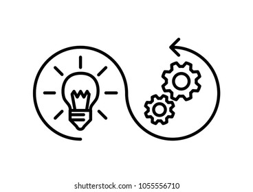 implementation icon, vector illustration