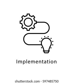 Implementation Vector Line Icon