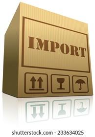 import shipping balance of international trade package shipment global importation