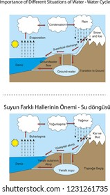 Importance of Different Situations of Water - Water Cycle