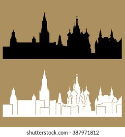 Important buildings in Moscow, Russia