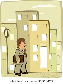 important businessman moving in the city