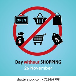 Important day, 26 November, day without shopping, close the store, save your money