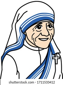 Important people of the world. Mother Teresa was an Albanian-Indian Roman Catholic nun and missionary.